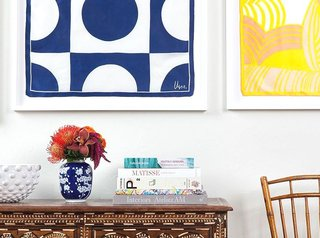 Wedding Registry Gifts, by Zola - Photo 3 of 7 - Framed art above a credenza Having your artwork framed makes it stand out so much more; Source: Simply Framed