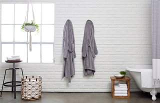 Bath Collection: Behind the Design + Styling Tips - Photo 4 of 6 - Classic Bathrobes, for lounging before or after your bathing rituals; Source: Nicole LaMotte/Parachute