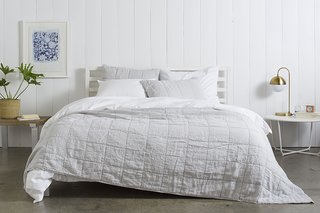 Essential Quilts: Behind the Design + Styling Tips - Photo 7 of 8 - Complement your Bedding with home decor that matches the season. Plants and lighter furniture are great for spring and summer; Source: Nicole LaMotte/Parachute