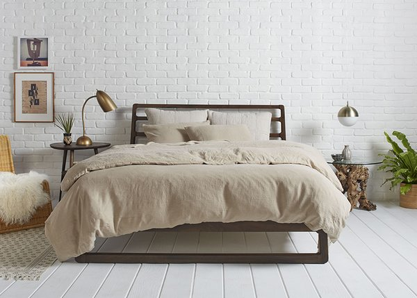 Toast Linen: Behind the Design + Styling Tips - Photo 2 of 6 - Toast on Toast paired with our Oatmeal Essential Shams for a more monochromatic look; Source: Nicole LaMotte/Parachute