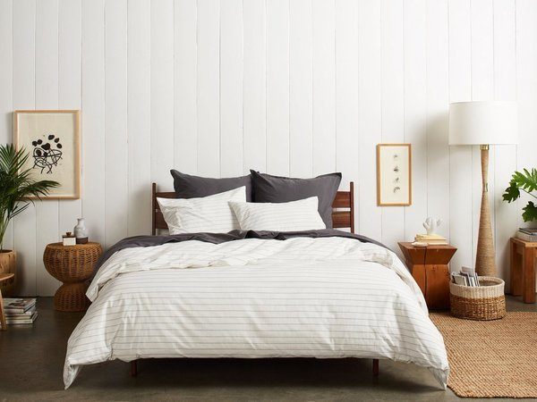 Stitch Striped Duvet Cover Set