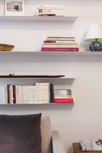 Floating shelves  Photo 8 of My loft in Greenwich Village (New York) modern home