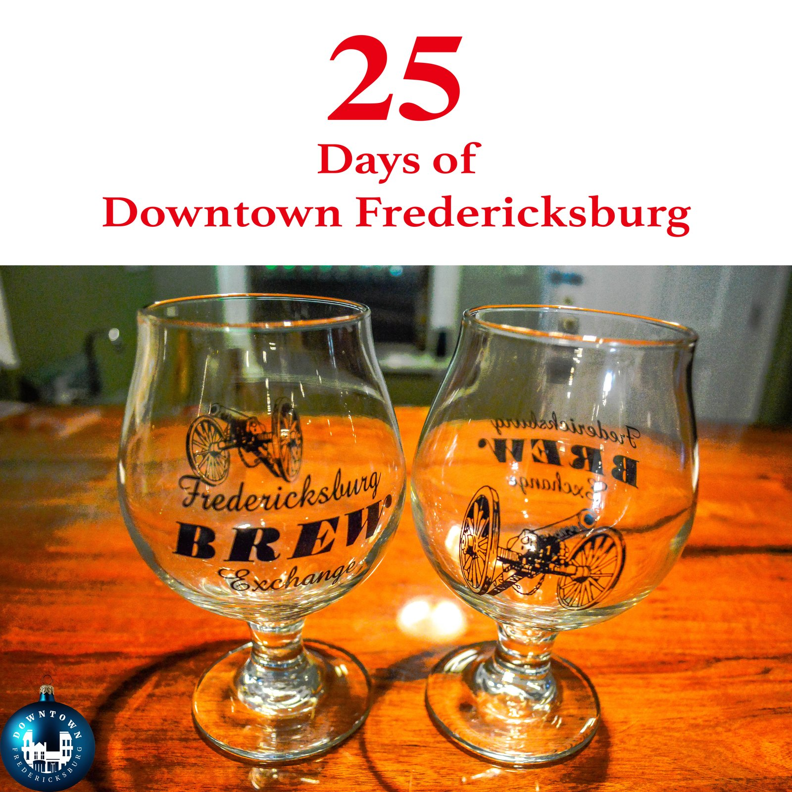 Gift Seven Merry Christmas and cheers to Fredericksburg Brew Exchange. www.facebook.com/DowntownFredericksburg  25 Days of Downtown Fredericksburg by Downtown Fredericksburg