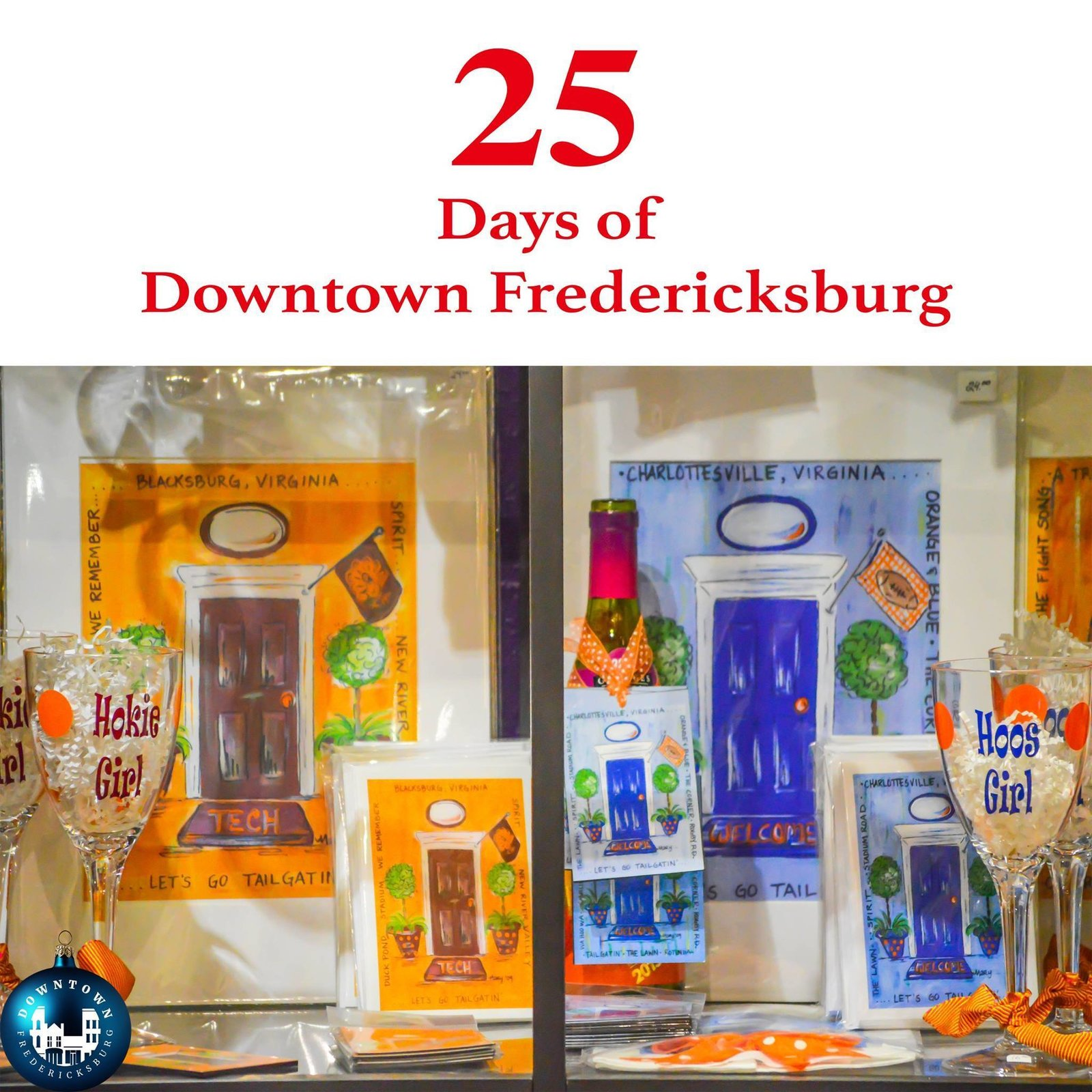 Gift Seventeen Whether you are a Hoo or a Hokie, Heather Boutique has the perfect collegiate gift for the fan in your home. https://www.facebook.com/DowntownFredericksburg/   25 Days of Downtown Fredericksburg by Downtown Fredericksburg