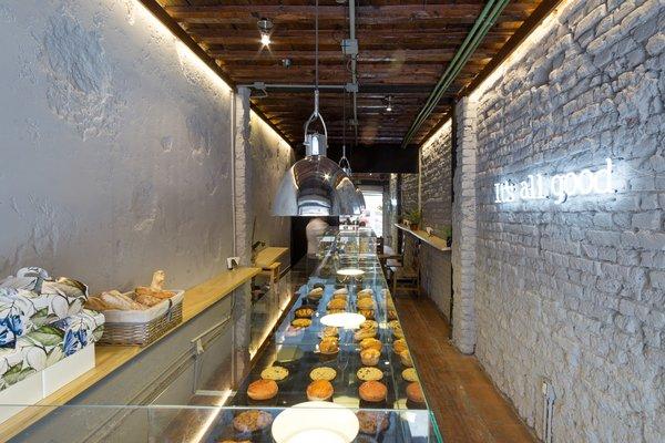 longitudinal floor plan Photo 4 of MYLK Bakery by COESPACIO modern home
