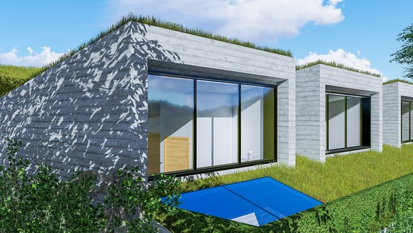 Modern home with outdoor, grass, and rooftop. Photo 8 of Camolair