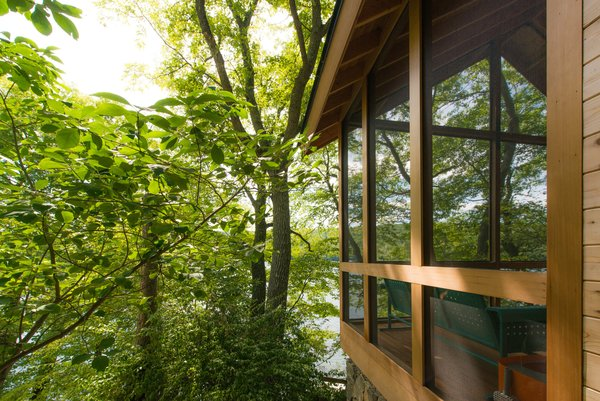 The enclosed Porch Photo 2 of Putnam Valley Lake House modern home