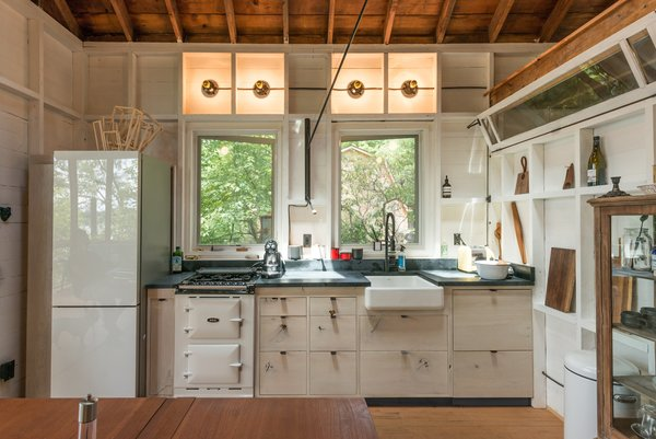 Reclaimed White Washed Cedar Kitchen Photo 3 of Putnam Valley Lake House modern home