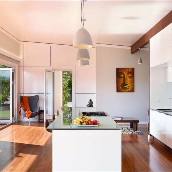 Natural light flows into this open plan home creating a synergy between the internal environment and the earth's elements... designed solar passively for the NSW South Coast climate. Photo 3 of South Coast Serendipity modern home