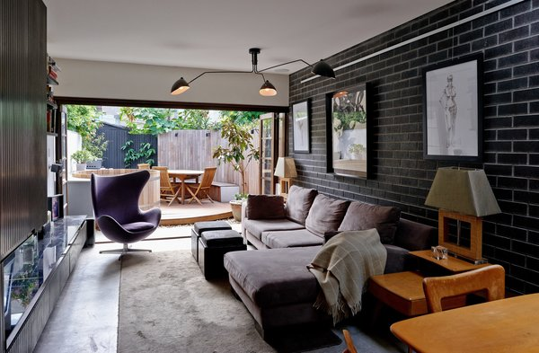 looking past lounge room to rear courtyard Photo  of Paddington Terrace 2 modern home