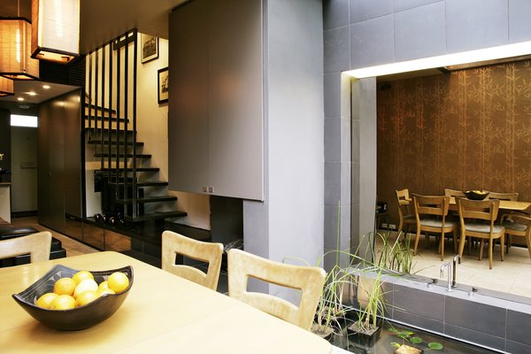 fishpond and fireplace Photo 3 of Terrace House 1 modern home