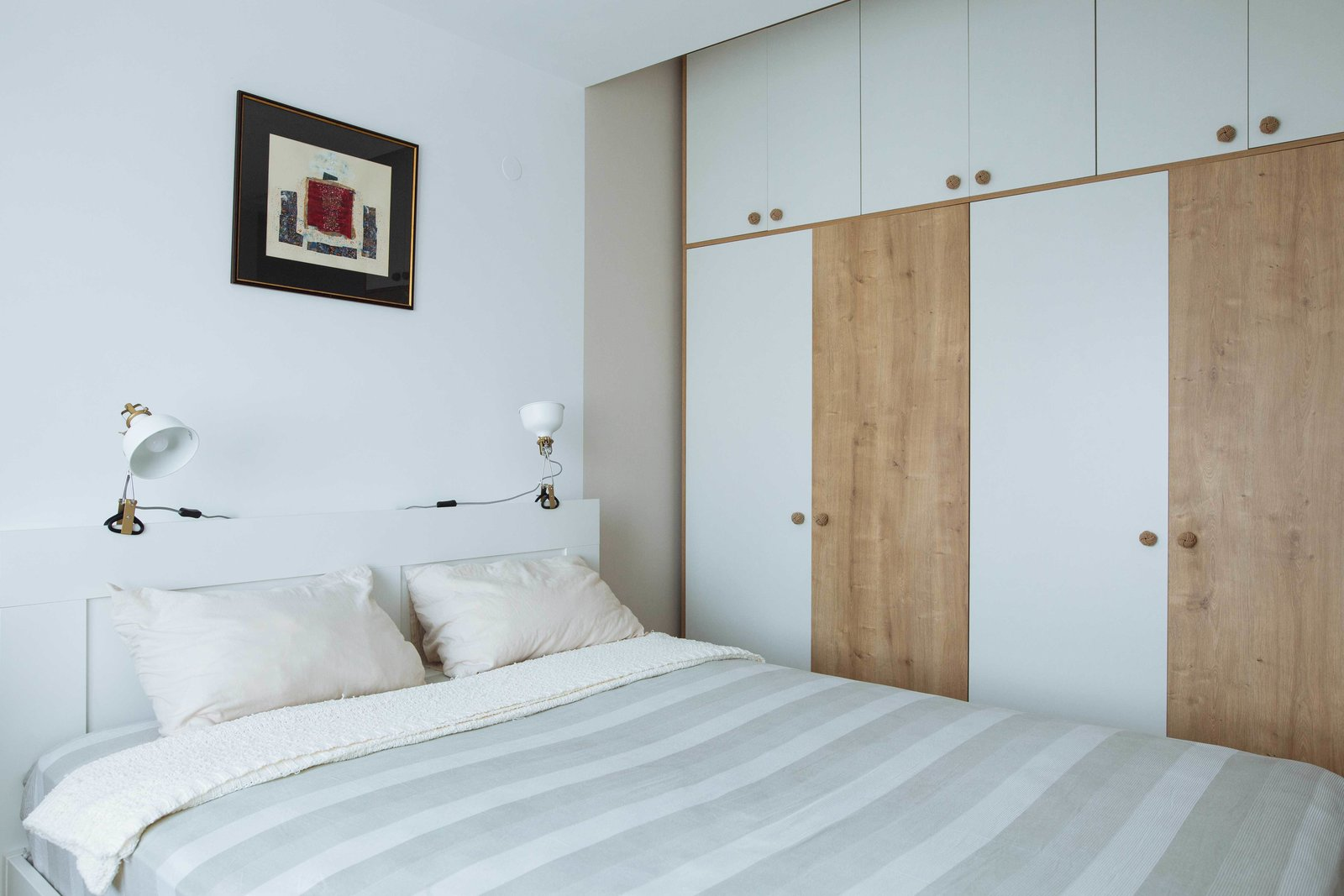 Tagged: Bedroom, Bed, Wardrobe, Lamps, Ceiling, and Laminate.  Best Bedroom Laminate Bed Photos from Cozy in the Big City