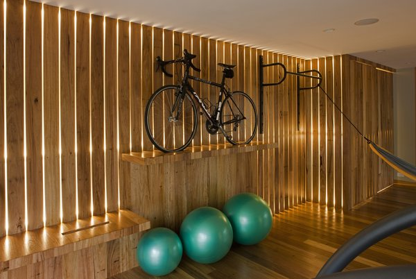 "Led ""light wall"" in home gym   Photo 2 of California Contemporary Home modern home"