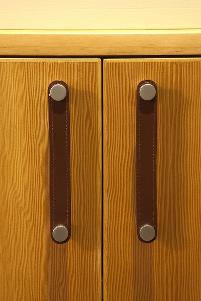 Leather cabinet pulls Photo 12 of California Contemporary Home modern home