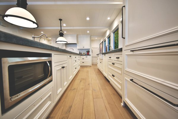 Homeowners dream custom kitchen with multiple drawers, which pull out for easy endless storage.  Photo 10 of Streamlined Cape Cod at The Wedge modern home