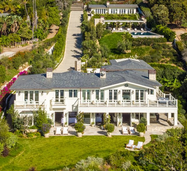 Aerial View Photo  of Luxury Cape Cod modern home