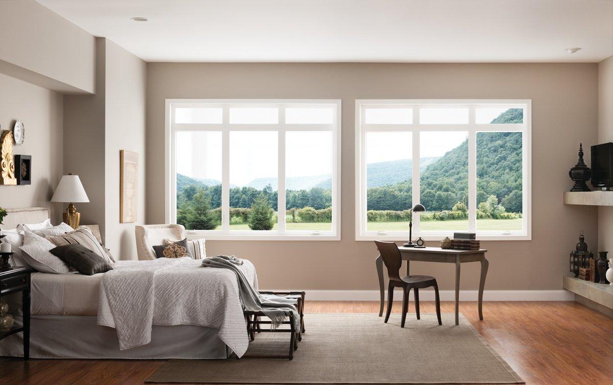 Creates a sleek, contemporary look.  Style Line Series Vinyl Windows by Milgard Windows & Doors