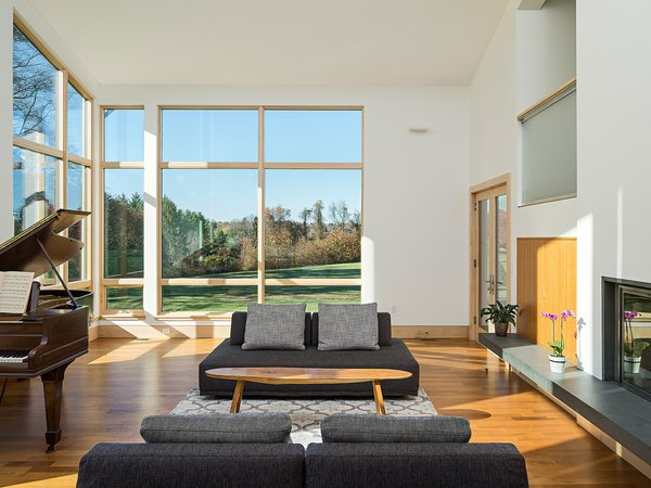 Living spaces receive plentiful natural light, and offer views towards the Owner's adjacent family farm.