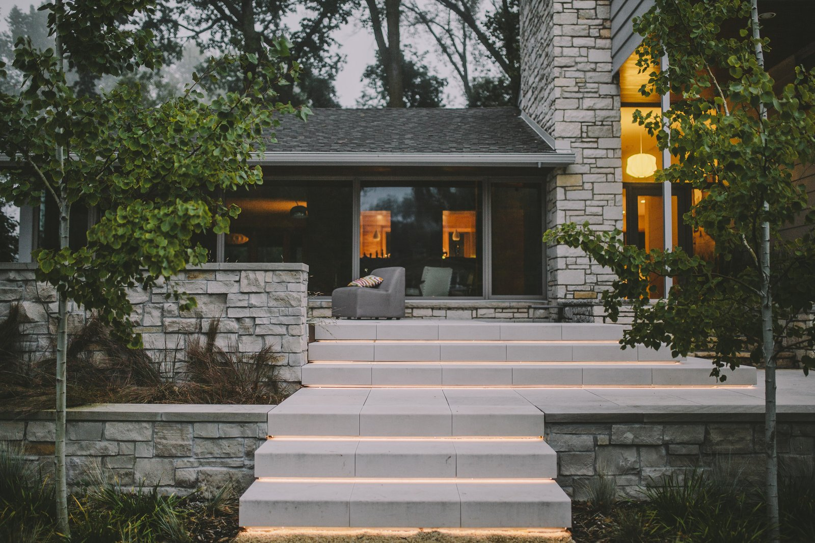 Seemless transition between indoor and outdoor spaces