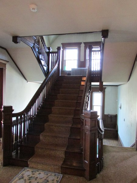 Grand Stair - before renovation - 2nd floor Photo 8 of T.S. Lackey House - The  future Dragonfly Bed & Breakfast modern home