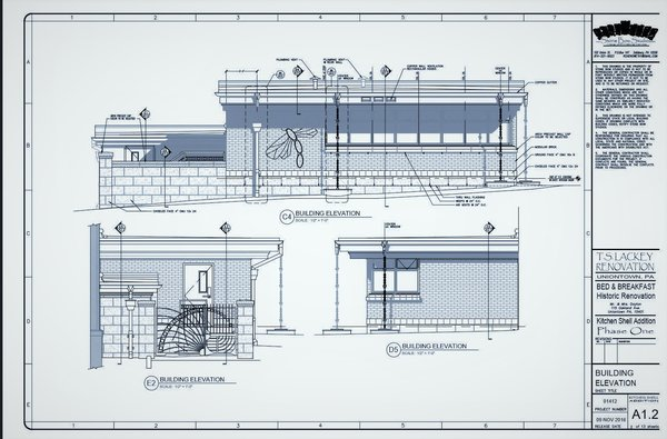 Proposed Kitchen addition Photo 12 of T.S. Lackey House - The  future Dragonfly Bed & Breakfast modern home
