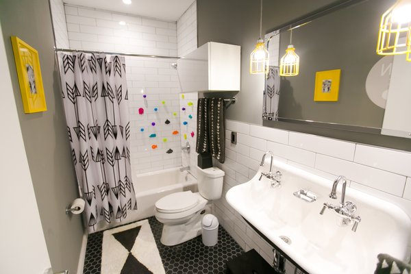 Kohler Brockway sink sets the tone for the boys' bathroom Photo 5 of The Sangar House modern home