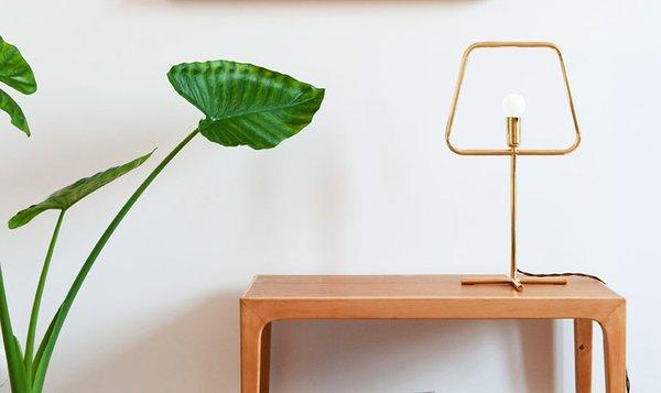 Adolfo Abejón Slim Brass Lamp