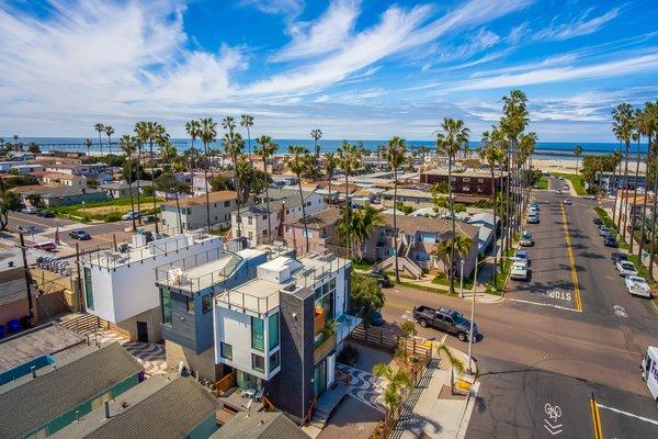 Aerial looking towards Dog Beach Photo 2 of Prefab Modern Coastal in San Diego modern home