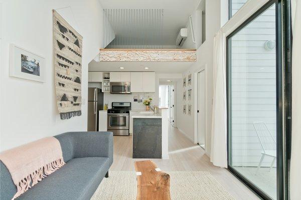Living/Kitchen in Alley Unit Photo 18 of Prefab Modern Coastal in San Diego modern home