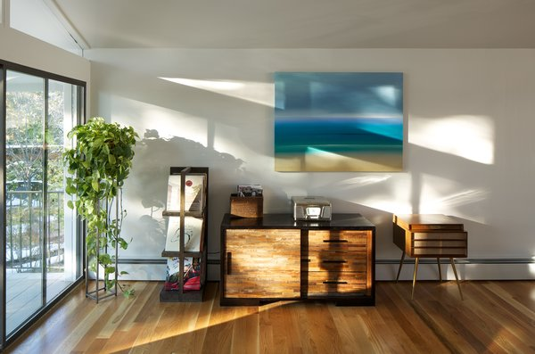 Modern home with storage room and cabinet storage type. Living Area  Photo 6 of Hornstein Residence