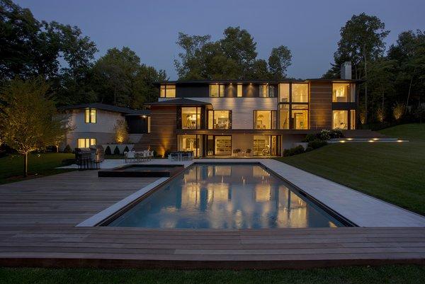 Ledgewood- Rear Exterior Photo  of Ledgewood modern home