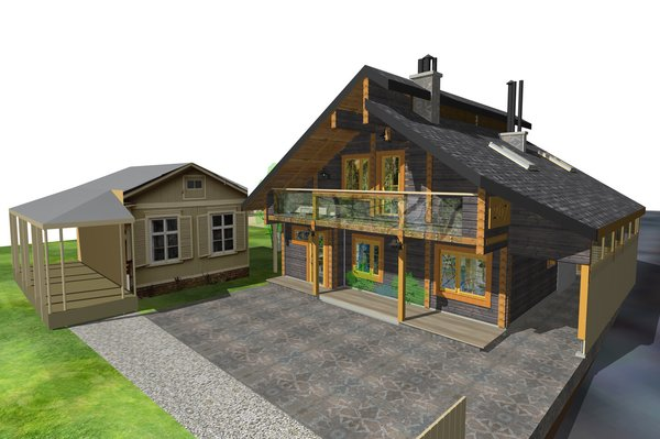project. perspective view Photo 3 of The Vitaliy's house modern home