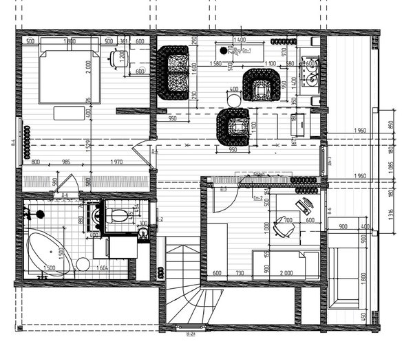 project. plane 2-th floor Photo 6 of The Vitaliy's house modern home