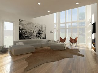 Competition: Redesign of Contemporary Living Room, Dallas, Texas