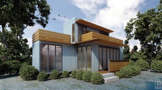 Shipping Containers Turn Affordable Homes - Photo 1 of 3 - Competition: Compact Shipping Container Home - Nairobi, Kenya