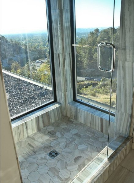Amazing views from this walk in shower! Photo 8 of Zimmerman Place modern home
