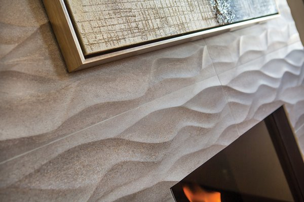 Michael picked out these surround tiles long before he knew how the room would come together.  Looking at them up close you can't help but think of spindling river currents or the way tree roots meander around solid stones in the soil. Photo 3 of Breckenridge Bliss modern home
