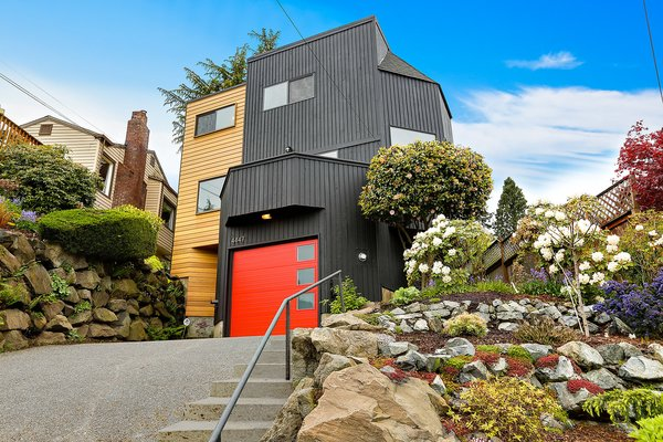The Monolith features many angles and a tiered garden. Photo 2 of The Monolith modern home