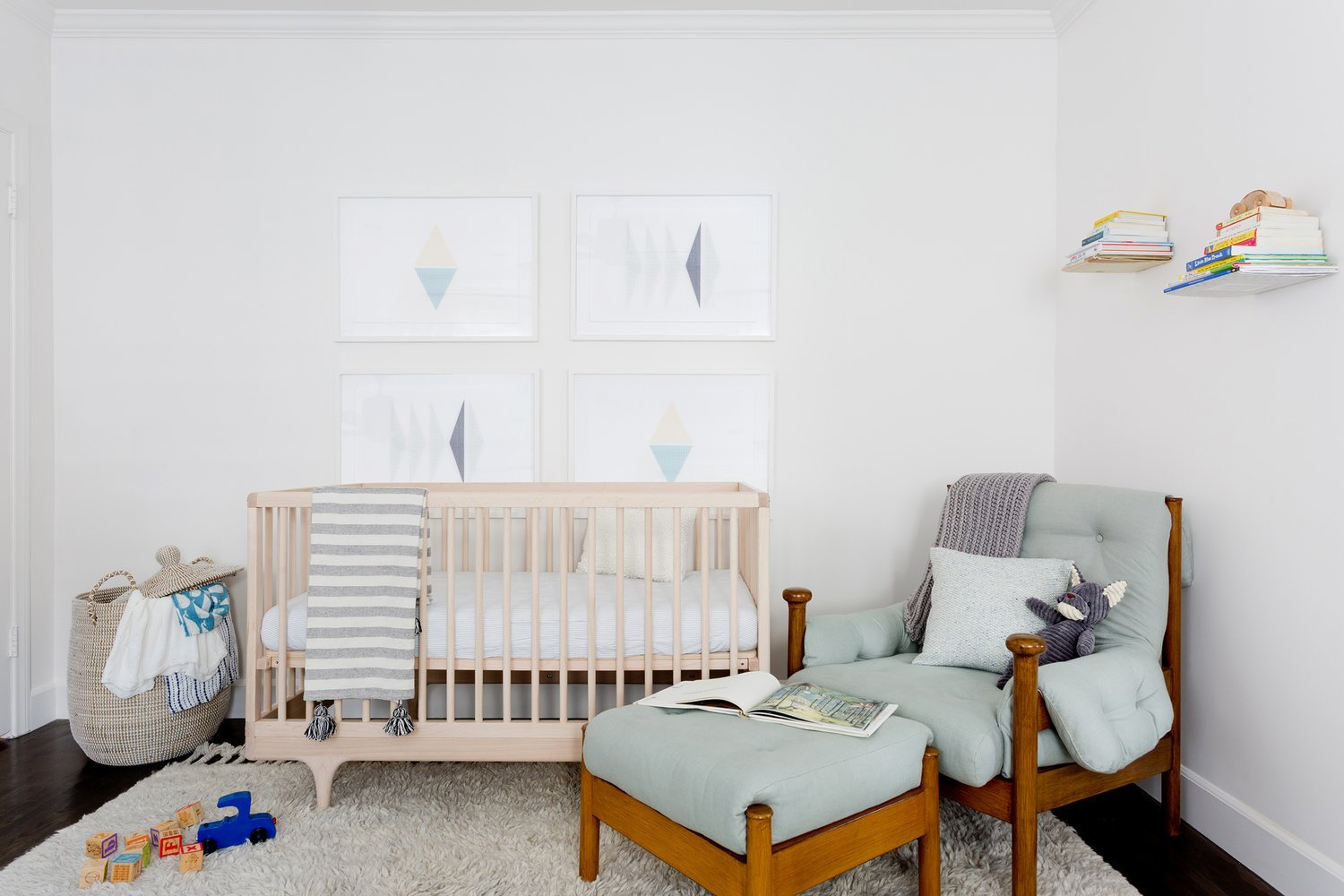 Tagged: Kids Room, Bedroom, Bed, Chair, Neutral Gender, Dark Hardwood Floor, and Toddler Age.  Stearns Residence by Jette Creative