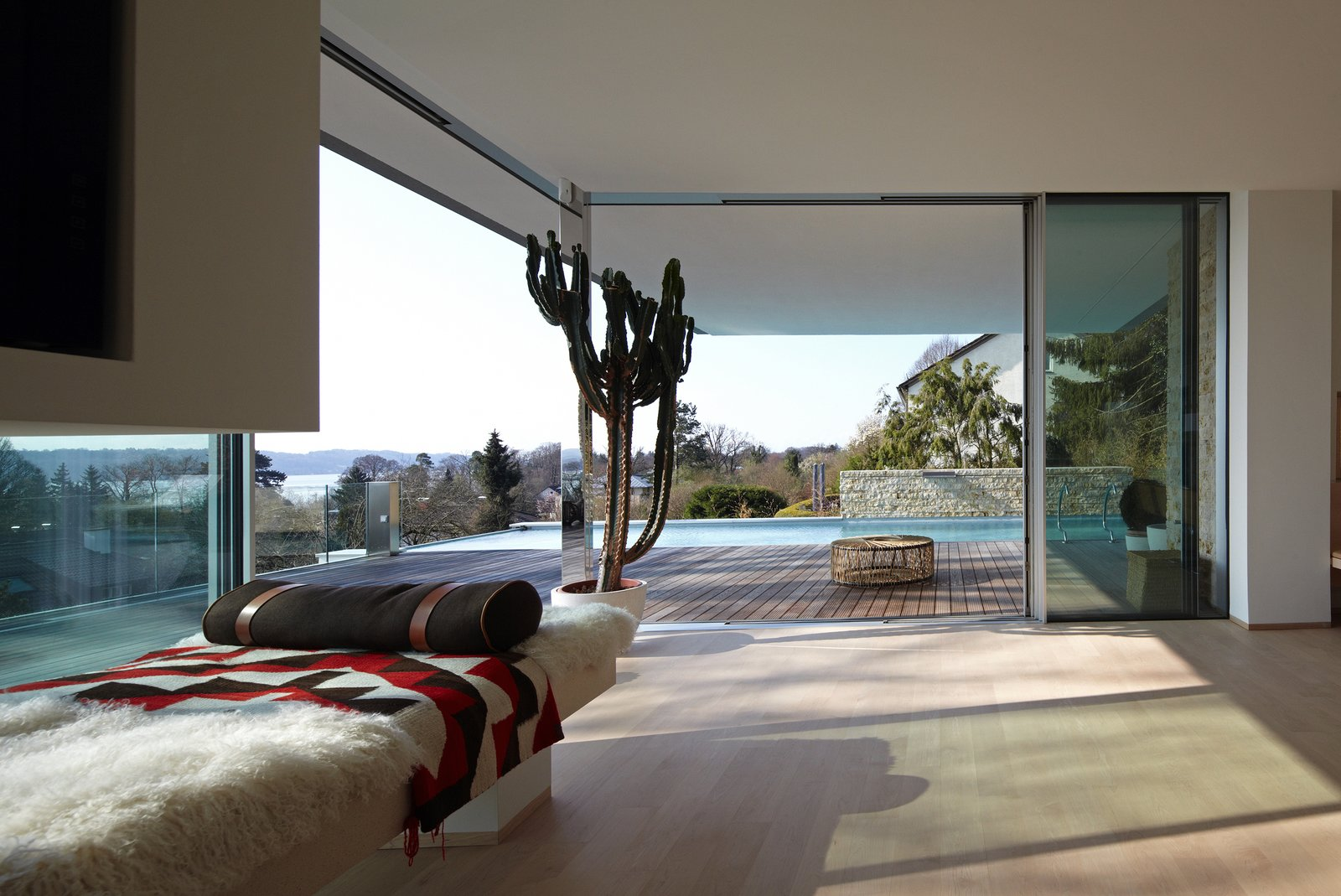 Tagged: Living Room, Bench, and Light Hardwood Floor.  House S by Stephan Maria Lang