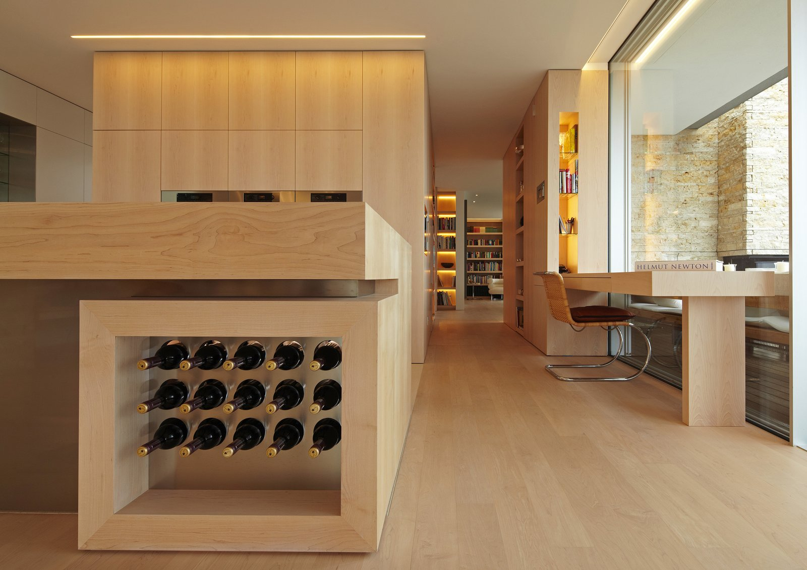 Tagged: Kitchen, Wood Counter, and Wood Cabinet.  House S by Stephan Maria Lang