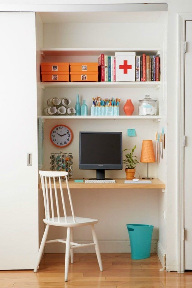 If there is a need for dedicated space for an office or a nursery, consider repurposing a closet. It can always go back to it's previous life later.