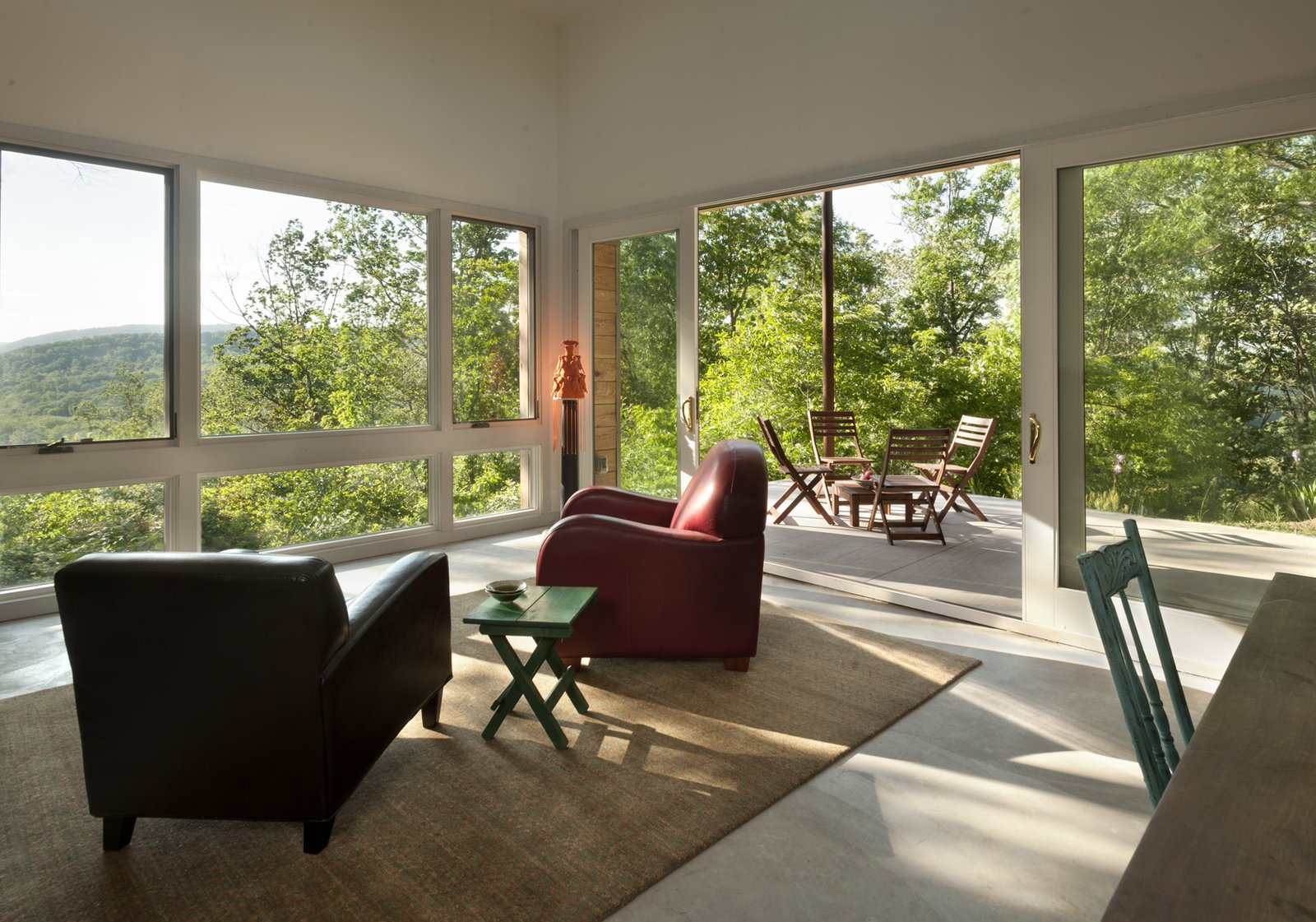 view from living room to porch  Ridge House by GriD
