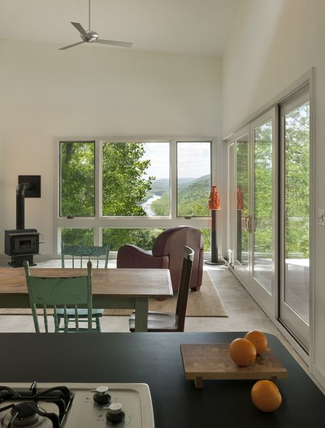 view from the kitchen out to the Potomac River Photo 14 of Ridge House modern home