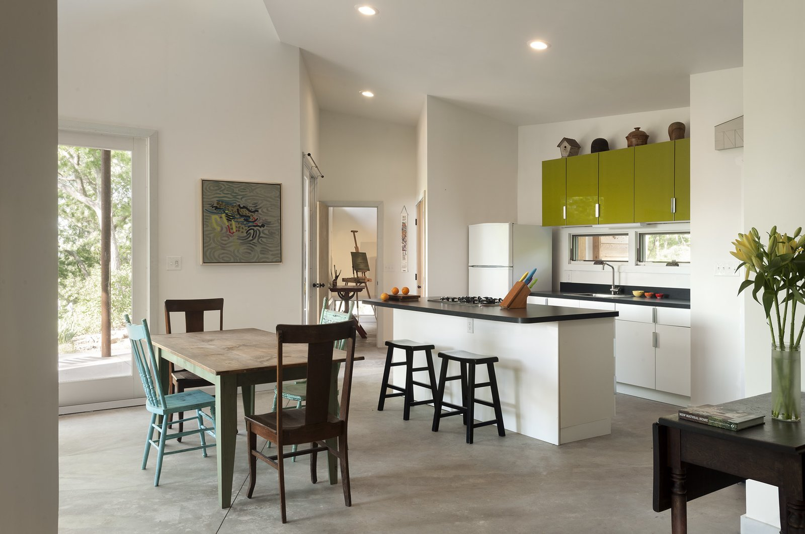 view of kitchen + dining  Ridge House by GriD