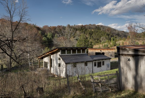 view from the south with goat barn in the foreground Photo 5 of Highland House modern home