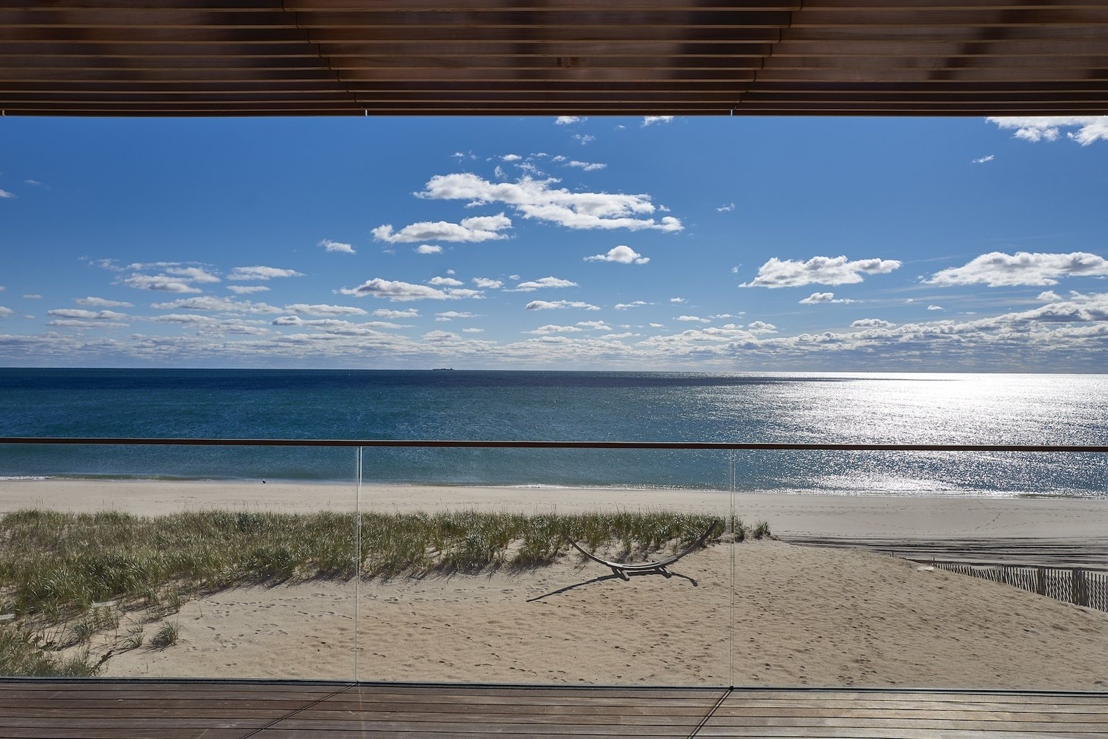 Ocean view from upper deck  House On The Point by Stelle Lomont Rouhani Architects