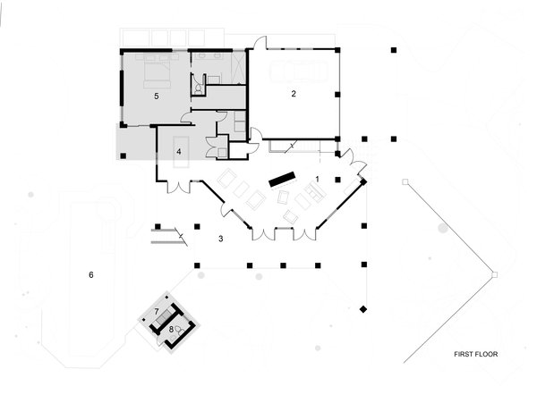 Ground Floor Plan , Grey areas by Sow Design Studio Photo 9 of The Tree House modern home
