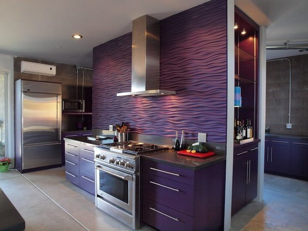 "Custom kitchen with ""wavy wall"" Photo 5 of Treehouse Project modern home"