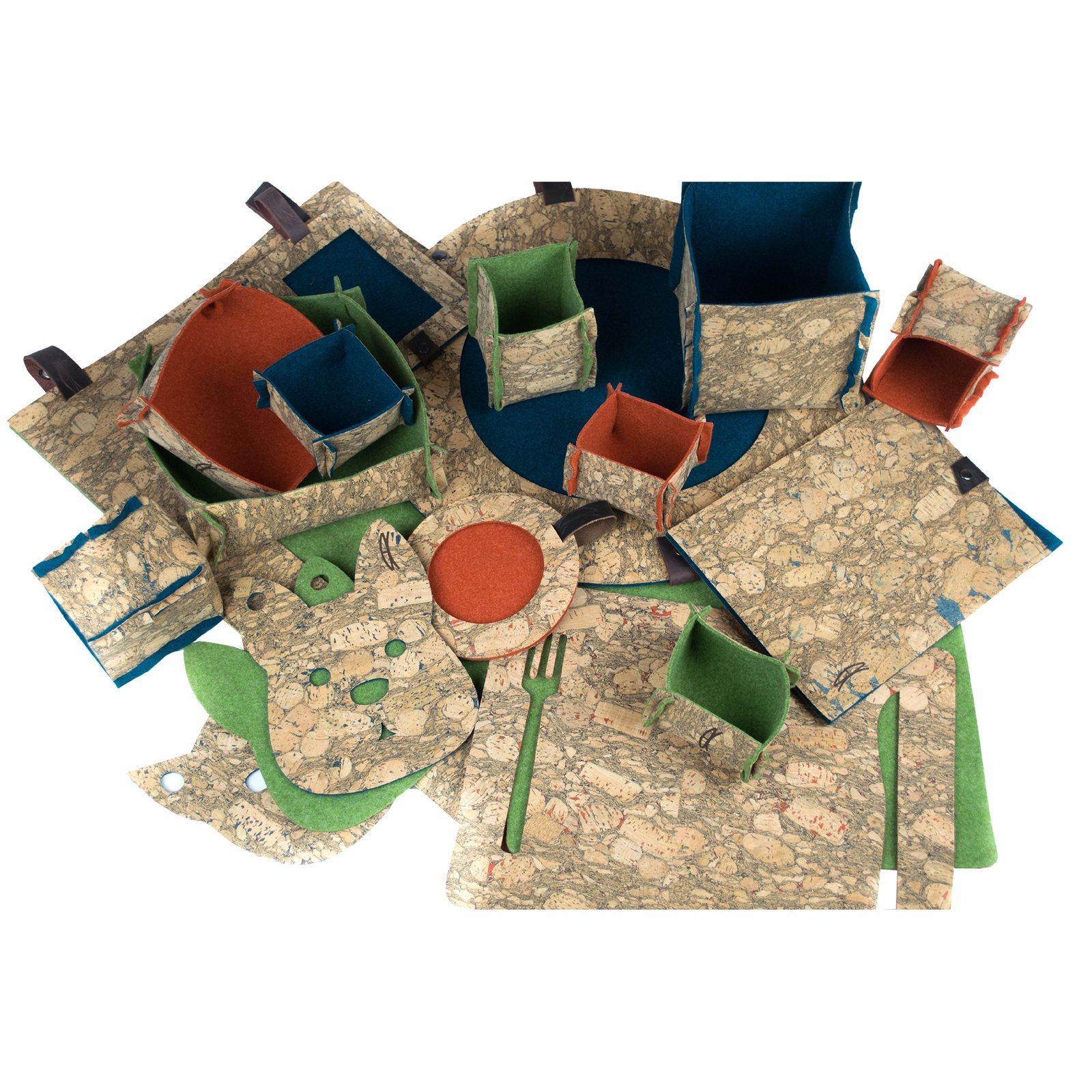 Home collection of accessories Cork&Felt